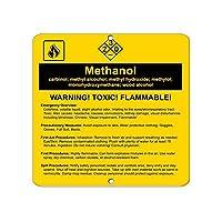 警告サイン メタノールカルビノール、メチルアルコール、水酸化メチル、メチロール 道路標識 ビジネスサイン 8X12インチ アルミニウム金属錫標識