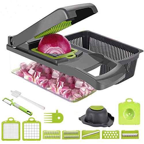 Vegetable Chopper Dicer Yibaision Food Choppers And Dicers Veggie Chopper Dicer, Heavier Duty 8 Multi Vegetable Cutter For Onion Potato Tomato Cheese Fruit Salad