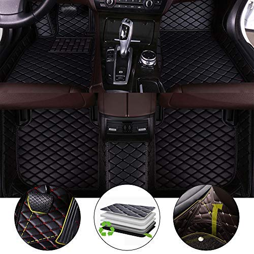 All Weather Floor Mat for Infiniti G Coupe/G35 2000-2007 Full Protection Car Accessories Black Full Set