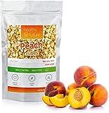 Melocotones liofilizados 100% naturales, sin gluten, sin azúcares añadidos, sin conservantes, merienda de fruta saludable (100g)