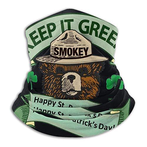EOPRO Smokey Oso Microfibra Cuello Calentador Mascarilla Esquí Mascarilla Cuello Polaina Cara Bufanda Deportes al aire libre