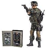 1/6 Figura de acción militar de 12 pulgadas modelo de figura de acción de soldado para niños, juego de figuras de acción de soldado del ejército con articulaciones móviles ropa arma de juguete
