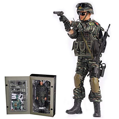 Giplar 1/6 Soldat Figur Modell Chinesische Bewaffnete Polizei, 30CM Militär Actionfigur Modell Militärfiguren Spielzeug für Kinder und Erwachsene