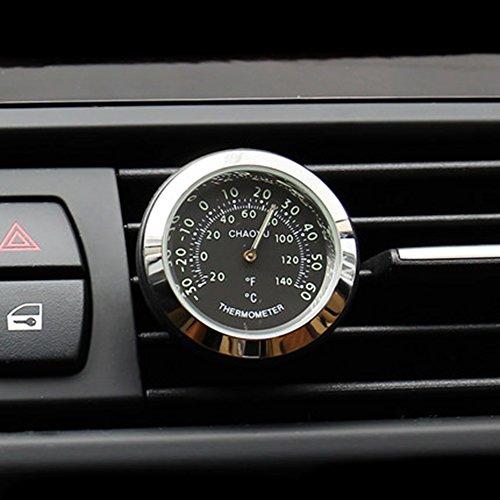 Txian Car Thermometer Air Vent Oldtimer Temperaturanzeige (38x38x17mm)