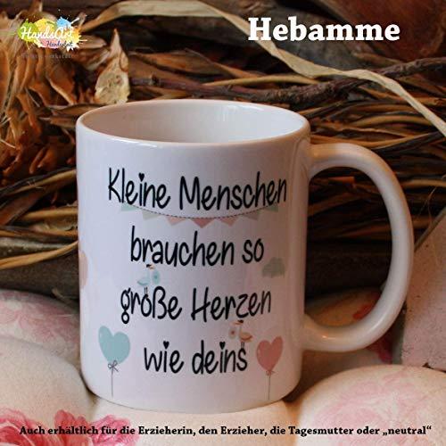 Kaffeebecher ~ Tasse -Kleine Menschen - Hebamme -Danke ~ Weihnachten Geburt Baby Geschenk