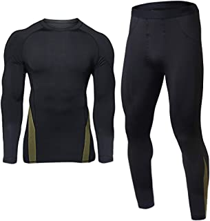 Mens Thermal Underwear Sets Base Layer Warm Top & Bottom Compression Winter Ultra Soft Gear Sport Long Johns Set for Men