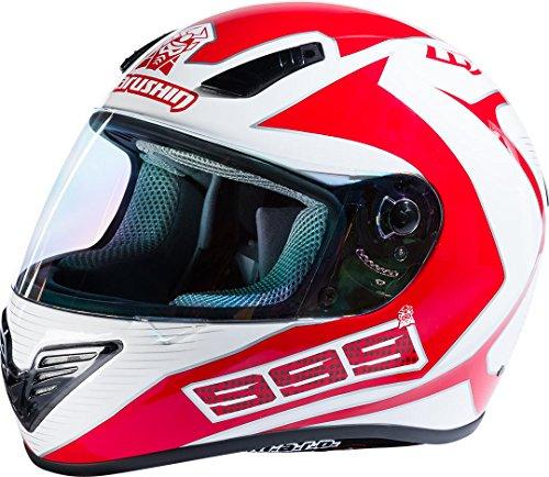 Marushin 999 RS Comfort Fundo Helm XS (53/54) Weiß/Rot