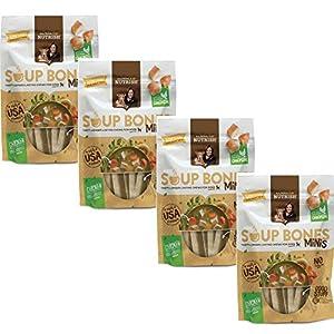 Rachael Ray Nutrish Soup Bones Minis Dog Treats, Chicken & Veggies Flavor, 4.2oz, Pack of 4