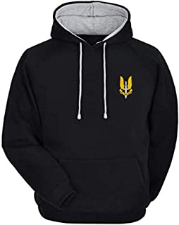 The Cool Vibe Store Unisex Special Forces Fan Hoodie (Solid Black)