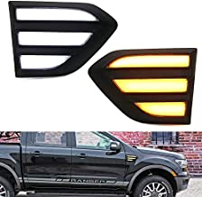 iJDMTOY White/Amber Switchback Driving/Turn Signal Blink LED Side Marker Light Kit Compatible With 2019-up Ford Ranger Truck