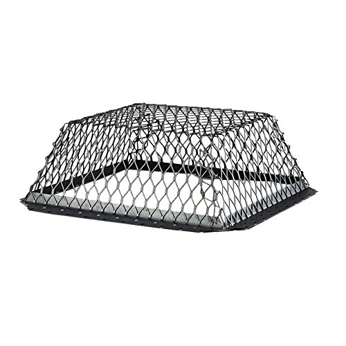 HY-C RVG1616G Galvanized Black Roof VentGuard with Wildlife Exclusion Screen, 16' x 16' x 6'