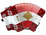 Fever F3112-R/W/R Button Accordion with...