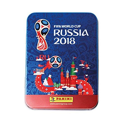Panini FIFA World Cup 2018 Panini WM Russia 2018 - Sticker - 1 Tin Dose mit 5 Sticker Tüten (25 Sticker)