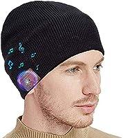 Lukasa Gorro Bluetooth Beanie Altavoces, Gorro Bluetooth 5.0 Auriculares Senza Fili Inalámbrico Gorro Música Invierno...
