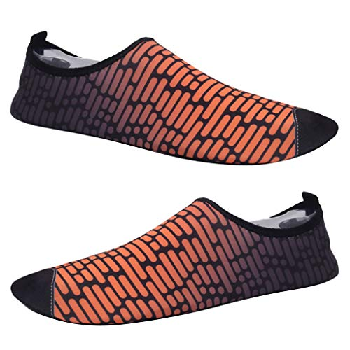 F Fityle 1 Par de Zapatillas de Correr Mujer Delgadas y Antideslizantes, Zapatillas para Surf, Yoga, Pilates, Gimnasio y Ejercicios - Naranja, 43-44
