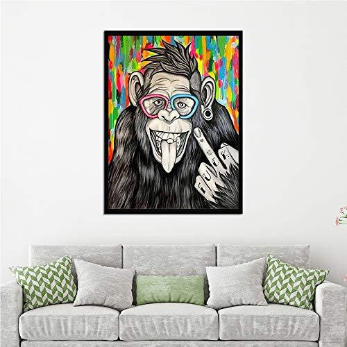 WSNDGWS canvas schilderij modern wandbehang kunst Hd paard decoratie schilderij geen fotolijst 40x50cm D3
