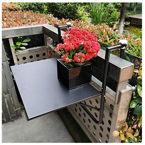 Balkon Hängetisch klappbar Esstisch und Stühle Klapptisch Rahmen, Anti-Rost-Sonnenschutz-Ring Geländer