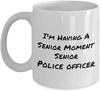 I'm Having A Senior Moment Senior Police Officer Funny Coffee Cups & Mugs