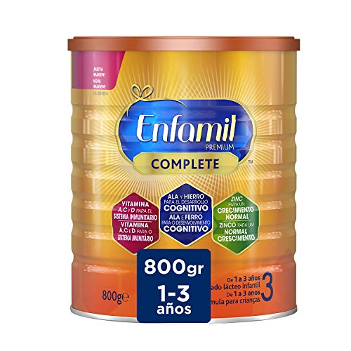Enfamil Premium Complete 3 - Leche Infantil de Continuación para Lactantes Niños de 1 a 3 Años, 800 gr
