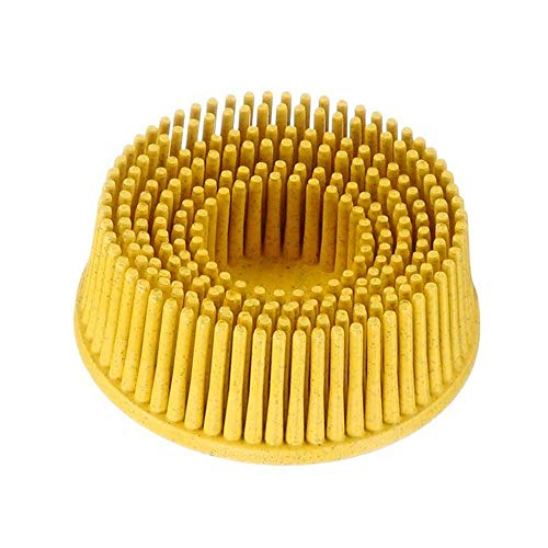 """1/"""" yellow   3M Roloc Bristle Discs80 grit  never used  30,000 RPM 2 Count"""