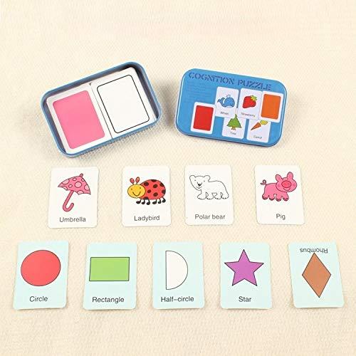 Graph Match Game frühe pädagogische Montessori Spielzeug Puzzle-Karte Cartoon Fahrzeug Tier Obst Paar passende Spiel. (Color : Color6)