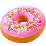 Adkwse Donut Soft Kissen Schokoladen Plüsch Zierkissen,Kuschelkissen extra dick und flauschig