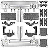 Upgraded 20 PCS W10712395 Dishwasher Upper Rack Adjuster Metal Kit & Compatible with kenmore whirlpool kitchen aid,Dishwasher Parts Replacement for W10250159 W10350375 AP5957560 W10712395VP