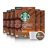 Starbucks Medium Roast K-Cup Coffee Pods — Breakfast Blend for Keurig Brewers — 6 boxes (60 pods total),10 Count (Pack of 6)