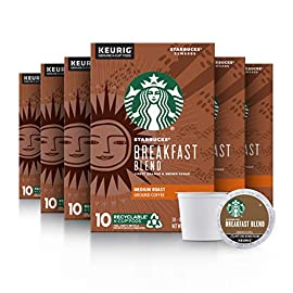Starbucks Breakfast Blend Medium Roast Single Cup Coffee for Keurig Brewers 4 FLAVOR AND ROAST: A lighter, gentler take on the Starbucks roast, Starbucks Veranda Blend is flavorful without being overly bold PACKAGING CHANGE: We are currently updating our packaging look. You may receive either package for a limited time FOR KEURIG BREWERS: Starbucks K-Cup pods are designed for use with the Keurig Single Cup Brewing System