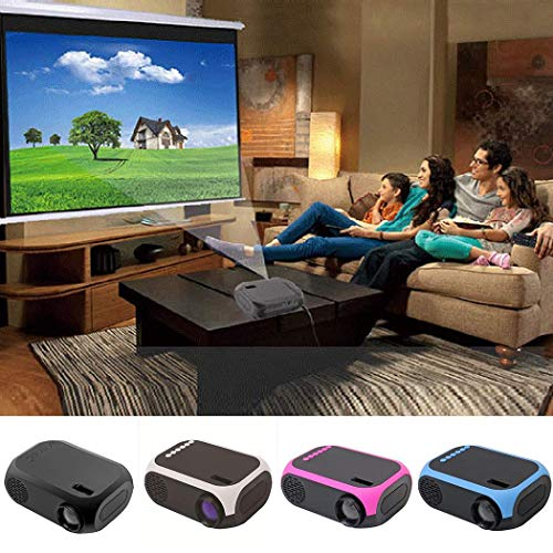 Vpicuo Household LED Projector Portable Media Video Player TF SD Card U Disk USB Overhead Projectors