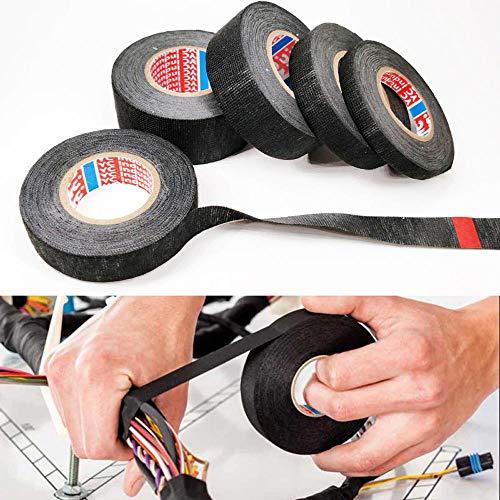 zmart ケーブルハーネス テープ 配線 織機 幅25mm 長さ15m Tesaタイプ 粘着布