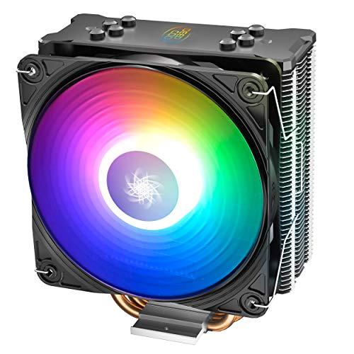 DeepCool Gammaxx GT ADD-RGB Disipador CPU 4 Heatpipes Ventilador PWM de 120mm Addressable 5V 3-Pin Compatible para CPU Intel 1155 1151 1150 1366 2011 2066 y AMD AM4 AM3+ AM3 AM2+ AM2 FM2+ FM2