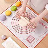 Non Slip Silicone Pastry Mat, Large Non-stick Baking Mat for Rolling Dough, Baking, Fondant, Pie...