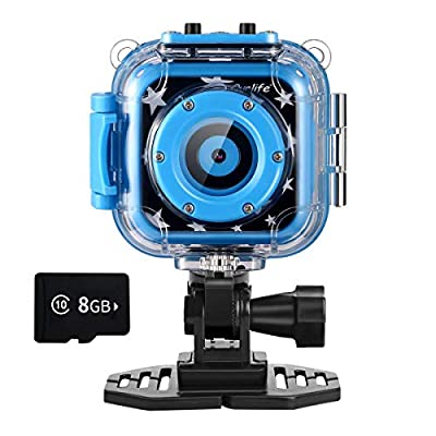Ourlife Kids Waterproof Camera with Video Recorder Includes 8GB Memory Card by Ourlife