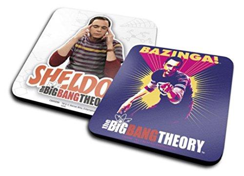 1art1 The Big Bang Theory Set De 2 Dessous De Verre (10x10 cm)