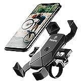 Pampel Fahrrad Handyhalterung,Automatische Verriegelung Motorrad Handy Halterung, Universal Verstellbare 360° Drehbar Motorrad Fahrrad Lenker Handyhalter für 4,5'-7,0' Zoll Smartphone