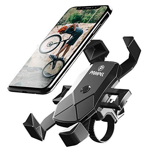 """PAMPEL Fahrrad Handyhalterung,Automatische Verriegelung Motorrad Handy Halterung, Universal Verstellbare 360° Drehbar Motorrad Fahrrad Lenker Handyhalter für 4,5""""-7,0"""" Zoll Smartphone"""