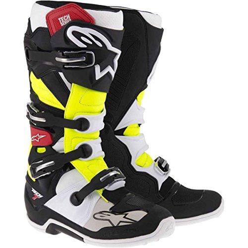 Alpinestars Unisex-Erwachsene Tech 7 Stiefel, Weiß, Größe 09 (Mehrfarbig, Einheitsgröße)