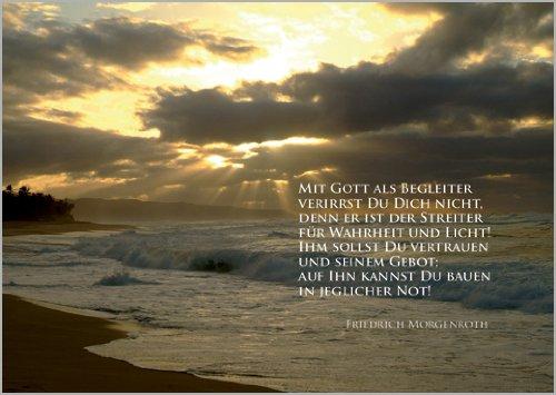 In 5-delige set: confirmatie vormsel wenskaart: Met God als begeleider vergist je je niet, want hij is de strijder voor waarheid en licht! Hij moet je vertrouwen en zijn bod; op hem kun je in elke nood bouwen.