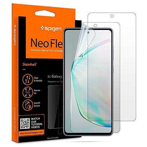 Spigen, 2 Pièces, Protection écran Samsung Galaxy Note 10 Lite, Galaxy A71, NeoFlex, Compatible avec capteur à Ultrason, Couverture maximale, Liquid Installation, Film Protection Note 10 Lite, A71