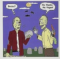 リッチDiesslins Funny一般漫画–ハロウィンゾンビVegans–グリーティングカード Set of 6 Greeting Cards