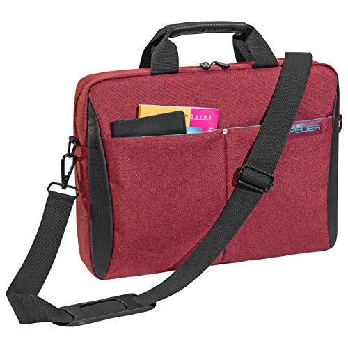 Pedea Laptoptasche Lifestyle Notebook-Tasche bis 17,3 Zoll (43,9 cm) Umhängetasche mit Schultergurt, rot