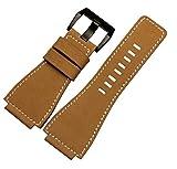 Correa de Reloj Convex de Piel con Hebilla para Bell Ross BR01/BR03 de 35 mm x 24 mm