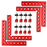 90 Degree Positioning Squares, Right Angle Clamp with 2 Clamps, Aluminium Alloy L-Type Corner Clamp, 5.5 Inch Woodworking Carpenter Clamping Tool for Frame, Boxe, Cabinet or Drawer (4pack, 5.5inch)