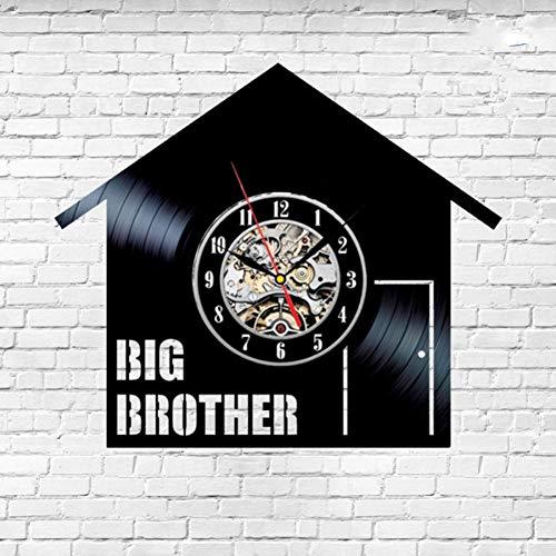 DFRTY Big Brother TV-Show Schallplatte Wanduhr kein Hemd Geschenk Geburtstag leise sicher