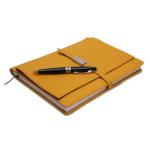 Coi Yellow Executive Corporate Business Undated Diary/Organizer Planner with Pen