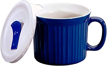 Corningware 1105119 20-Ounce Meal Mug with Vented Lid (Blueberry)