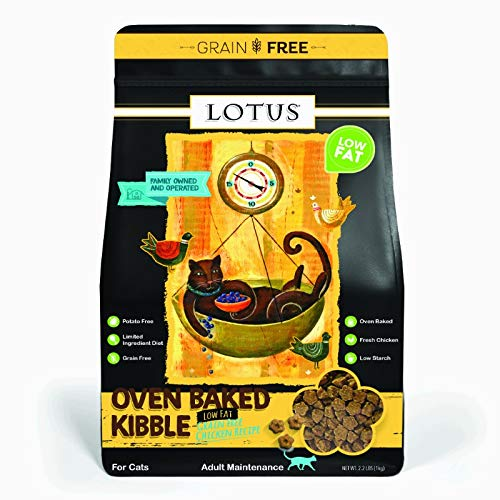 Lotus Low Fat Oven-Baked Dry Cat Food Chicken Recipe 2.2 Pounds