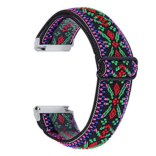 Banda de Reloj de Tela elástica para Fitbit Versa 1 2 Versa Lite Ship Mush STRUP para Fitbit Versa 3 Piezas de Bucle de la Pulsera de Sense MingYuChangHu (Color : P, Size : For Fitbit Versa)