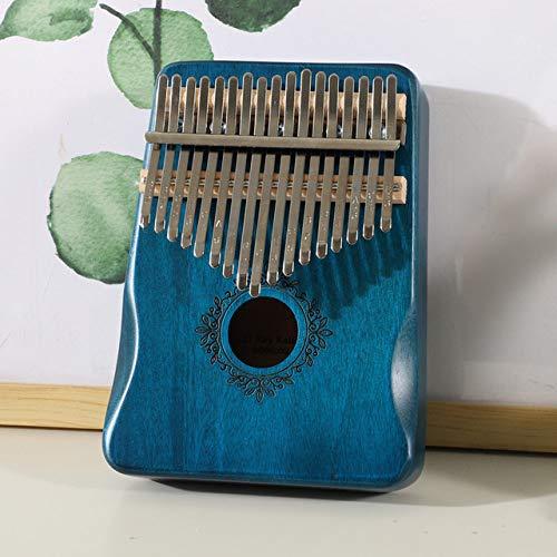 ABMBERTK 17 Tasten Kalimba Daumen Klavier, Musikinstrument, hochwertiger Mahagoni Korpus, mit Zubehör, GQ1